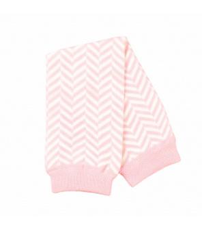 Babylegs Pink White Herringbone