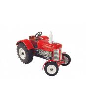 Traktor Zetor 50 Super červený na klíček kov 15cm 1:25 v krabičce Kovap