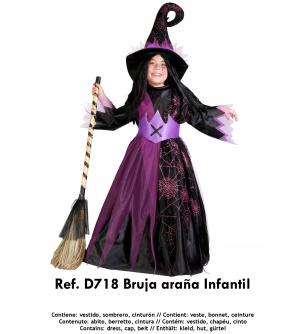 Nines Kostým Arana čarodějnice 9-11 let