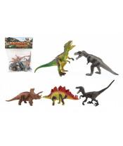Dinosaurus plast 15-18cm 5ks v sáčku