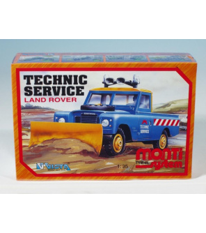 Stavebnice Monti System MS 01 Technic Service Land rover 1:35 v krabici 22x15x6cm