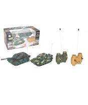 Tank RC 2ks 20cm tanková bitva+dobíjecí pack 27MHZ se zvukem se světlem v krabici 34x16x20cm