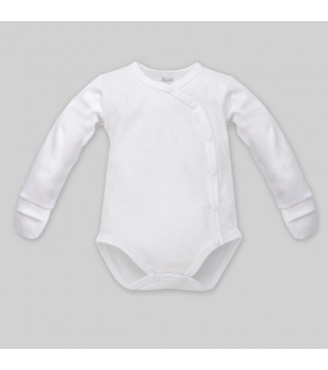 PINOKIO Body knoflíky dlouhý rukáv s rukavičkami, bílá, vel.56 BI