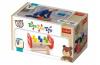 Zatloukačka s kladívkem dřevěná Wooden Toys v krabici 22,5x12,5x10,5cm 12m+