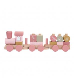Tiamo Little Dutch Dřevěný vláček pink
