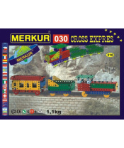 Stavebnice MERKUR 030 Cross expres 10 modelů 310ks v krabici 36x27x3cm