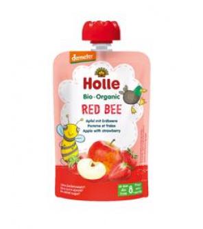 HOLLE Red Bee Bio pyré jablko jahody 100 g (8+)