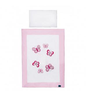 3-dílné ložní povlečení Belisima Motýlek 100/135 růžové