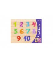 Vkládačka/Puzzle obrysové čísla 37x29 ve fólii