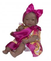 Nines 31260 Maria con Bebe Panenka 45cm růžová/žlutá