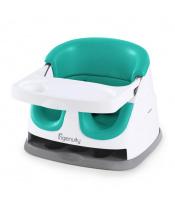 INGENUITY Podsedák na jídelní židli 2v1 Baby Base Ultramarine Green 6 m+, do 22 kg