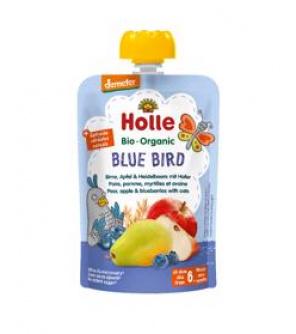 HOLLE Blue Bird Bio pyré hruška jablko borůvky vločky 100 g (6+)
