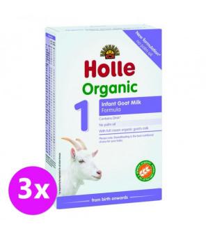 3 x HOLLE Bio Dětská mléčná výživa na bázi kozího mléka 1 počáteční