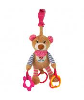 Plyšová hračka s vibrací Baby Mix medvídek růžový