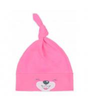 Bavlněná kojenecká čepička Bobas Fashion Lucky tmavě růžová