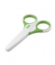 Dětské zdravotní nůžky s krytem Nuk zelené