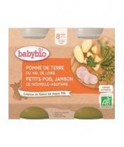 2x BABYBIO Menu brambory a hrášek se šunkou (200 g)