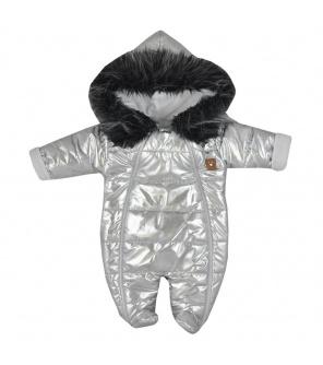 Zimní kojenecká kombinéza s kapucí Koala Lara stříbrná