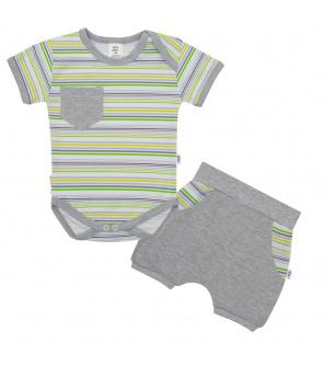 2-dílná letní bavlněná souprava New Baby Perfect Summer stripes