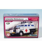 Stavebnice Monti System MS 35 Unprofor Ambulance Land Rover 1:35 v krabici 22x15x6cm
