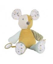 CANPOL BABIES Mazlíček hebký s pískátkem Mouse