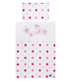 3-dílné ložní povlečení Belisima Veselé Hvězdičky 100/135 růžové