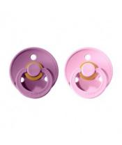 BIBS Colour dudlíky zpřírodního kaučuku 2 ks vel. 1 Lavender / Baby Pink