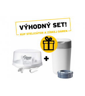 Parní sterilizátor do mikrovlnné trouby C2N + Koš na pleny Sangenic Twist & Click