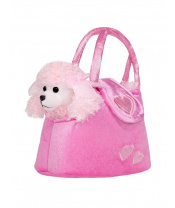 Dětská plyšová hračka PlayTo Pejsek v kabelce růžová