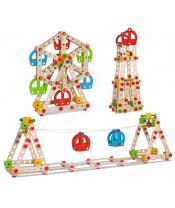 Eichhorn  Dřevěná stavebnice lunapark Constructor Big Wheel  3 modely (lunapark, maják, lanovka) 240 dílů od 6 let