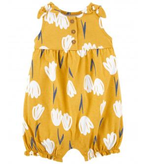 CARTER'S Overal bez rukávů Yellow Floral dívka 12 m, vel. 80