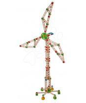 Eichhorn Dřevěná stavebnice větrný mlýn Constructor Windmill  8 modelů (mlýn, jeřáb, letadlo, stíhačka, katamaran, auto, most, jeřáb na kontejnery) 300 dílů od 6 let