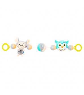 Dětské plyšové chrastítko do kočárku Baby Mix myš a sova