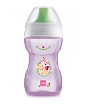 MAM Hrnek na učení Fun to drink cup Guardian 270 ml, 8+ m růžový