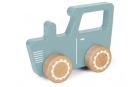 Tiamo Little Dutch dřevěný traktor modrý