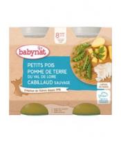 2x BABYBIO Menu hrášek a brambory s islandskou treskou (200 g)