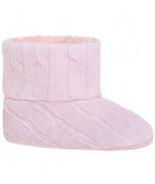Dětské zimní capáčky Bobo Baby 12-18m růžový úplet