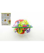 Hlavolam Bludiště ovál 3D plast 20cm 299 kroků v krabici