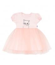 Kojenecké šatičky s tylovou sukýnkou New Baby Wonderful růžové