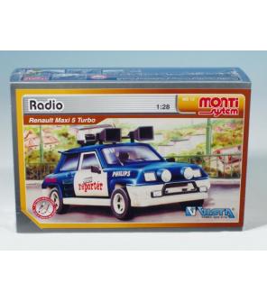 Stavebnice Monti 13 Radio Renault 1:28 v krabici 22x15x6cm