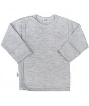 Kojenecká košilka New Baby Classic II šedá