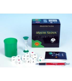 Mistr Slova společenská hra na cesty s kostkami v krabičce 13x12,5x6cm