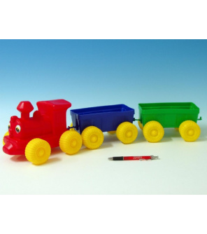 Vlak + 2 vagóny plast 60cm v síťce