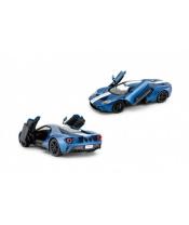Auto RC Ford GT plast 30cm modré na baterie v krabici 43x18x26cm