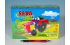 Stavebnice Seva Klasik Nejmenší  Traktor plast 115ks v krabici 31,5x16,5x7,5cm