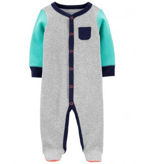 CARTER'S Overal na druky Grey chlapec 9m