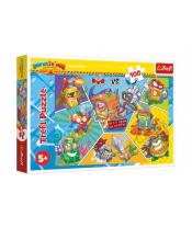 Puzzle Špioni v akci 100 dílků 41x27,5cm v krabici 29x19x4cm