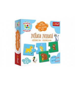 Zvířata vzdělávací společenská hra pro nejmenší v krabici 20x20x5cm 24m+