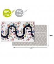 Podložka na hraní bez PVC a BPA 218x132cm Vibrant Village 0m+