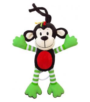 Dětská plyšová hračka s hracím strojkem Baby Mix opice zelená